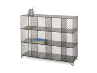 Industrial metal Mish-Mesh sideboard and wire storage unit or bookcase
