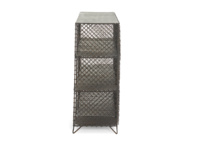Wire bookcase and storage unit, the Mish-Mesh industrial metal sideboard