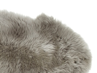 Sheepskin grey fur small fluffy Nuzzler runner