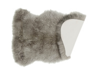 Fur grey small fur fluffy sheepskin Nuzzler rug
