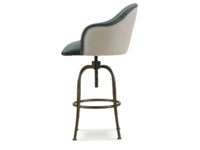 Swivel Milk upholstered counter and breakfast bar stool