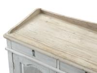 Grey Grand Teardrop antique vintage wooden grey sideboard