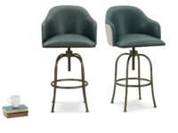 Swivel Milk upholstered contemporary kitchen bar stool