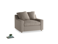 Love Seat Sofa Bed Cloud love seat sofa bed in Driftwood brushed cotton