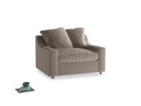Love Seat Sofa Bed Cloud love seat sofa bed in Fawn clever velvet