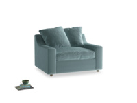 Love Seat Sofa Bed Cloud love seat sofa bed in Lagoon clever velvet