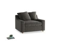 Love Seat Sofa Bed Cloud love seat sofa bed in Shadow Grey wool