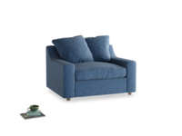 Love Seat Sofa Bed Cloud love seat sofa bed in Hague Blue cotton mix