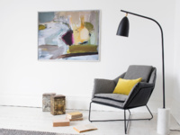 Framed art canvas Helter Skelter by Ben Lowe artwork