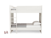 Children's Clever Clogs white wooden bunk bed and two single beds