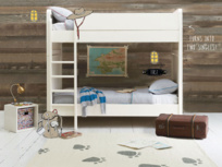 Clever Clogs white wooden childrens bunk bed