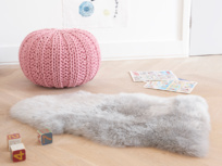 Nuzzler rug in grey