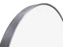 Jago metal round wall mirror