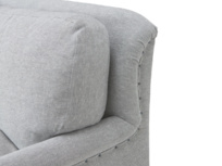 Traditional comfy Pavlova chaise sofa with stud detail