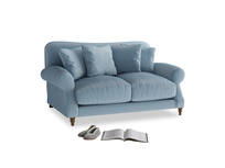 Small Crumpet Sofa in Chalky blue vintage velvet
