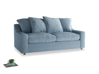 Cloud Sofa Bed Medium in Chalky blue vintage velvet