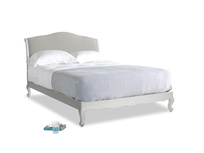 Kingsize Coco Bed in Scuffed Grey in Mineral grey clever linen