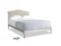 Kingsize Coco Bed in Scuffed Grey in Pale rope clever linen