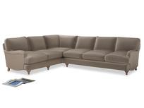 Xl Left Hand Jonesy Corner Sofa in Fawn clever velvet