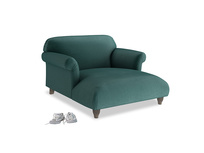 Love Seat Chaise Soufflé Love Seat Chaise in Timeless teal vintage velvet