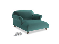 Love Seat Chaise Soufflé Love Seat Chaise in Real Teal clever velvet