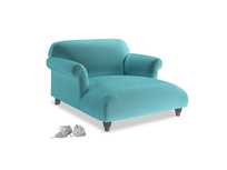 Love Seat Chaise Soufflé Love Seat Chaise in Belize clever velvet
