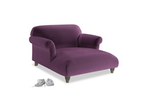 Love Seat Chaise Soufflé Love Seat Chaise in Grape clever velvet