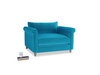 Love Seat Weekender Love seat in Azure plush velvet