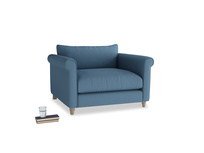 Love Seat Weekender Love seat in Easy blue clever linen
