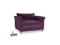 Love Seat Weekender Love seat in Grape clever velvet