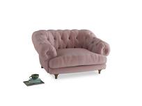 Bagsie Love Seat in Chalky Pink vintage velvet