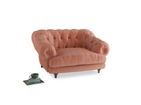 Bagsie Love Seat in Old rose vintage velvet