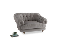 Bagsie Love Seat in Soothing grey vintage velvet