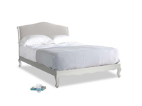 Kingsize Coco Bed in Scuffed Grey in Lunar Grey washed cotton linen