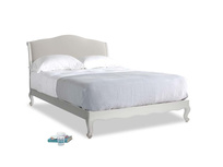 Kingsize Coco Bed in Scuffed Grey in Moondust grey clever cotton
