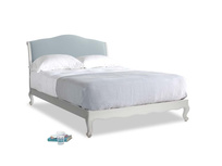 Kingsize Coco Bed in Scuffed Grey in Scandi blue clever cotton