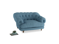 Bagsie Love Seat in Moroccan blue clever woolly fabric