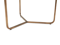 High Jinks brass base contemporary side table