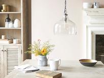 Medium Cowbell bell shaped glass pendant light