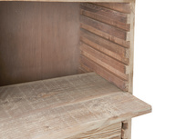 Chocablock console table with wooden drawer storage