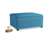 Single Bed in a Bun in Teal Blue plush velvet
