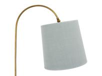 Elegant brass Slam Dunk floor lamp with tripod feet