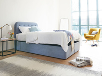 Store ottoman bed with our Napper headboard