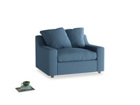 Love Seat Sofa Bed Cloud love seat sofa bed in Easy blue clever linen