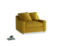 Love Seat Sofa Bed Cloud love seat sofa bed in Burnt yellow vintage velvet