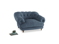Bagsie Love Seat in Nordic blue brushed cotton