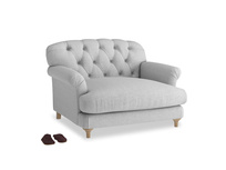 Truffle Love seat in Cobble house fabric