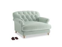 Truffle Love seat in Mint clever velvet