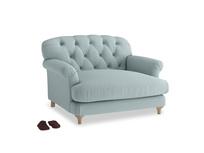 Truffle Love seat in Smoke blue brushed cotton