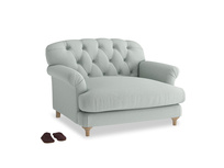 Truffle Love seat in French blue brushed cotton